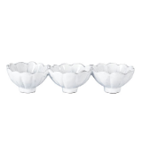 "VIETRI "" TRIPLE CONDIMENT SERVER "" WHITE LACE"
