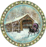 "P. BUCKLEY MOSS ORNAMENT "" COUNTRY RIDE """