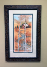 "P. BUCKLEY MOSS FRAMED GICLÉE ""APPALACHIAN AUTUMN"""