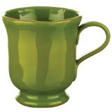 VIETRI BASILICO FOOTED MUG