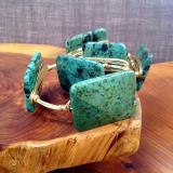 """ BOURBON & BOWETIES "" GREEN TURQUOISE RECTANGLE"
