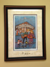 "P. BUCKLEY MOSS FRAMED GICLEE ""BIRTHPLACE OF COUNTRY MUSIC MUSEUM"""
