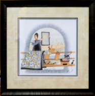 "P. BUCKLEY MOSS FRAMED PRINT  "" BASKETS FOR SALE """