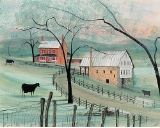 "P. BUCKLEY MOSS PRINT "" BAYLOR'S MILL """