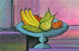 "P. BUCKLEY MOSS GICLEE ON PAPER "" BOWL OF PLENTY """