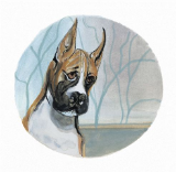 "P. BUCKLEY MOSS PRINT "" DOGS - BOXER """