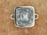 TABRA BLUE TOPAZ WITH STAR EMBOSSING CONNECTOR CHARM