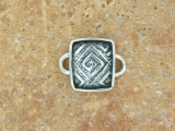 TABRA SMALL SQUARE GREEK KEY CONNECTOR CHARM