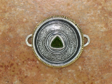 TABRA SILVER AND BRONZE WITH FACETED PERIDOT CONNECTOR CHARM
