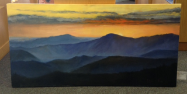"CHERYL KEEFER "" BLUE RIDGE SUNSET """