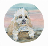 "P. BUCKLEY MOSS PRINT "" DOGS - COCKAPOO """