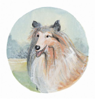 "P. BUCKLEY MOSS PRINT "" DOGS - COLLIE """