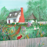 "P. BUCKLEY MOSS GICLEE "" COLONIAL GARDEN """
