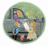 "P. BUCKLEY MOSS PRINT "" DELIVERING SWEET DREAMS WITHOUT SWEET DREAMS """