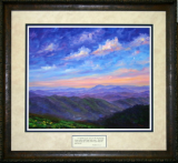 "JEFF PITTMAN "" SUNSET RIDGE "" FRAMED PRINT"