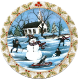 "P. BUCKLEY MOSS ORNAMENT "" FROSTY SNOWMAN """