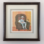 "P. BUCKLEY MOSS "" STORY TIME WITH BROTHER "" FRAMED"
