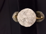 BOURBON AND BOWETIES LARGE GRAY CIRCLE DRUZY