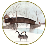 "P. BUCKLEY MOSS ORNAMENT "" HUMPBACK BRIDGE """
