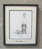 "P. BUCKLEY MOSS FRAMED PRINT "" THE GATHERER """