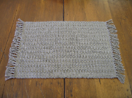 TAN - TAUPE SOLID HONEYCOMB PLACEMAT