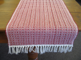 RED SQUARES TABLE RUNNER