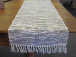 BLACK, SIENNA, AND NATURAL TABLE RUNNER