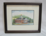 "LORRAINE BREWER FRAMED PRINT "" SULLIVAN COUNTY COURTHOUSE "" (SMALL)"
