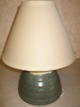 "JIM CORNELL POTTERY 13"" LAMP"
