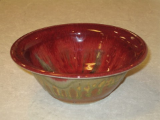 RAY POTTERY RED LIPPED BERRY / DIP BOWL