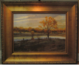 JOHN LLOYD JONES ORIGINAL OIL PAINTING WITH DUCK HUNTERS II