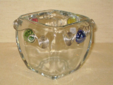 WIRED GLASS SALSA DISH / VOTIVE HOLDER