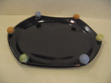 BATTON CLAY HEXAGON SERVING PLATTER