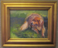 UNTITLED DOG STUDY BY V. VAUGHAN FRAMED