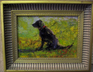 DOG STUDY 235 BY V. VAUGHAN FRAMED