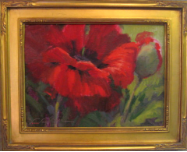 POPPY STUDY I BY V. VAUGHAN FRAMED