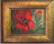 POPPY STUDY II BY V. VAUGHAN FRAMED