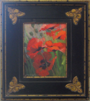 """POPPY PLACE"" POPPY STUDY BY V. VAUGHAN FRAMED"