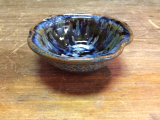 "RAY POTTERY "" CONDIMENT BOWL BLUE """