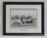"P. BUCKLEY MOSS FRAMED PRINT "" CHURCH CIRCLE RIDE """
