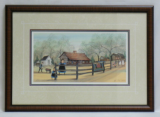 "P. BUCKLEY MOSS FRAMED PRINT "" THE EXCHANGE PLACE REVISITED """