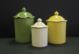 VIETRI CUCINA FRESCA SET OF 3 CANISTERS