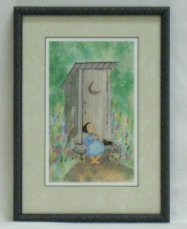 "P. BUCKLEY MOSS FRAMED PRINT "" PLEASE HURRY """
