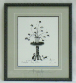 "P. BUCKLEY MOSS FRAMED PRINT "" PUSSY WILLOWS """