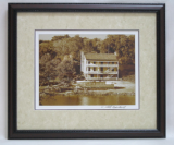 "KENNETH MURRAY PHOTOGRAPHY "" THE NETHERLAND INN & BOATYARD I "" SEPIA - FRAMED"