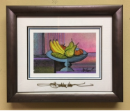 "P. BUCKLEY MOSS "" BOWL OF PLENTY "" FRAMED"