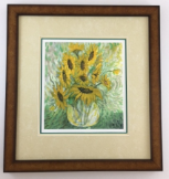 "P. BUCKLEY MOSS "" SUMMER BOUQUET "" FRAMED"