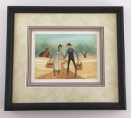 "P. BUCKLEY MOSS "" FAITHFUL HARVEST "" FRAMED"