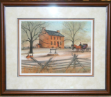 "P.BUCKLEY MOSS FRAMED PRINT "" MEMORIES OF MANASSAS  """
