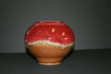 RAY POTTERY RED FLOWER PLANTER